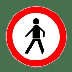 Verkehrszeichen 259 Verbot für Fußgänger