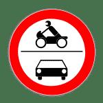 Verkehrszeichen 260 Verbot für Kraftfahrzeuge