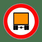Verkehrszeichen 261 Verbot für kennzeichnungspflichtige Kraftfahrzeuge mit gefährlicher Ladung