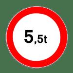 Verkehrszeichen 262 Verbot für Kraftfahrzeuge über angegebenes tatsächliches Gewicht