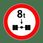 Verkehrszeichen 263 Verbot für Kraftfahrzeuge über angegebene tatsächliche Achslast