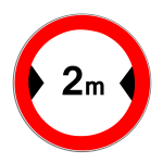 Verkehrszeichen 264 Verbot für Kraftfahrzeuge über angegebene tatsächliche Breite