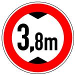 Verkehrszeichen 265 Verbot für Kraftfahrzeuge über angegebene tatsächliche Höhe
