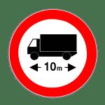 Verkehrszeichen 266 Verbot für Kraftfahrzeuge über angegebene tatsächliche Länge