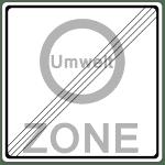 Verkehrszeichen 270-2 Ende Verbotszone