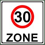 Verkehrszeichen 274-1 Beginn einer Tempo 30-Zone