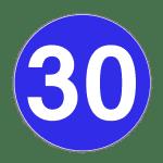 Verkehrszeichen 275 Vorgeschriebene Mindestgeschwindigkeit