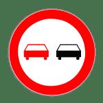 Verkehrszeichen 276 Überholverbot für Kraftfahrzeuge aller Art