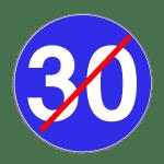 Verkehrszeichen 279 Ende der vorgeschriebenen Mindestgeschwindigkeit