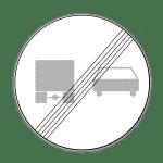 Verkehrszeichen 281 Ende des Überholverbots für Kraftfahrzeuge über 3,5t