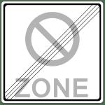Verkehrszeichen 290-2 Ende eines eingerschränkten Halteverbots für eine Zone
