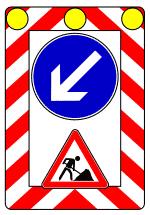 Verkehrszeichen 615 Fahrbare Absperrtafel