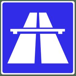 Das Verkehrszeichen 330 weist auf eine Autobahn hin.