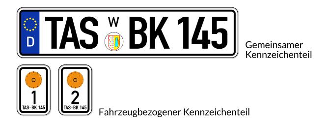 Anders als in Österreich oder der Schweiz wird ein Wechselkennzeichen in Deutschland nur selten beantragt.