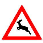 Verkehrszeichen Wildwechsel