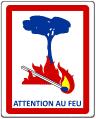 Zeichen Waldbrandgefahr Frankreich